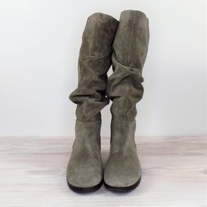 Aerosoles Supersonic Suede Slouch Tall Boots Sz 10